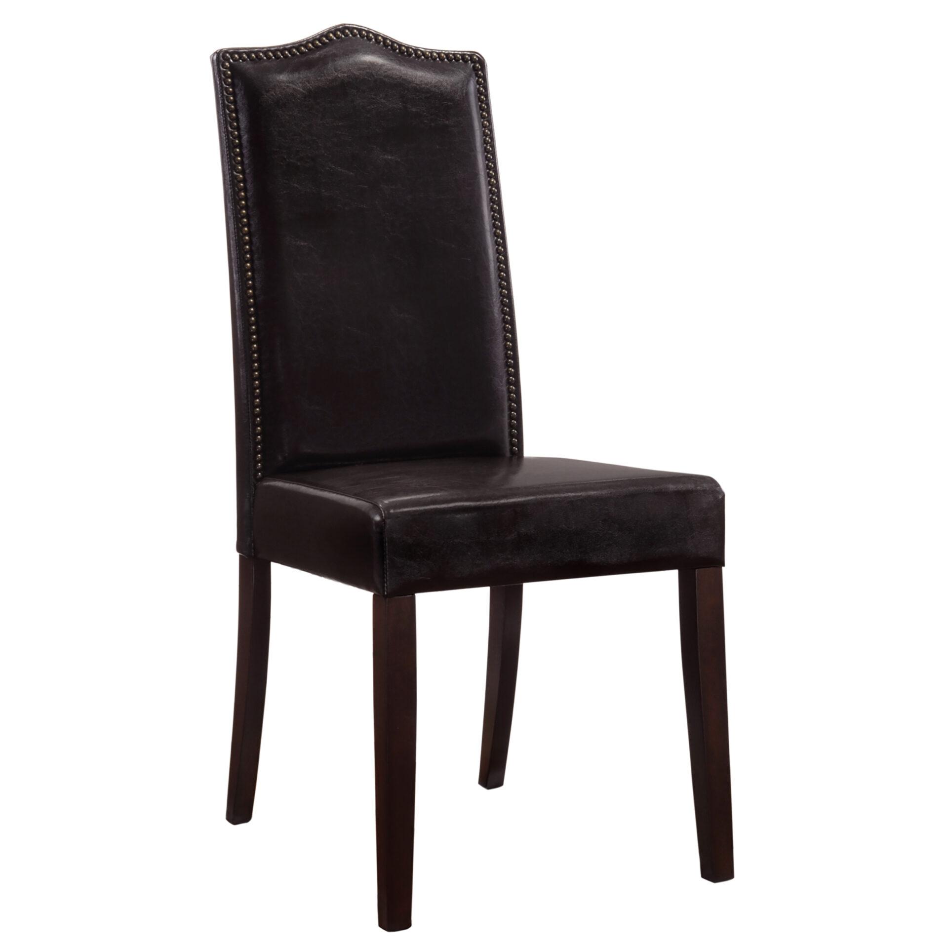 Hudson Nail Head Parson Chair, Espresso w/ Espresso