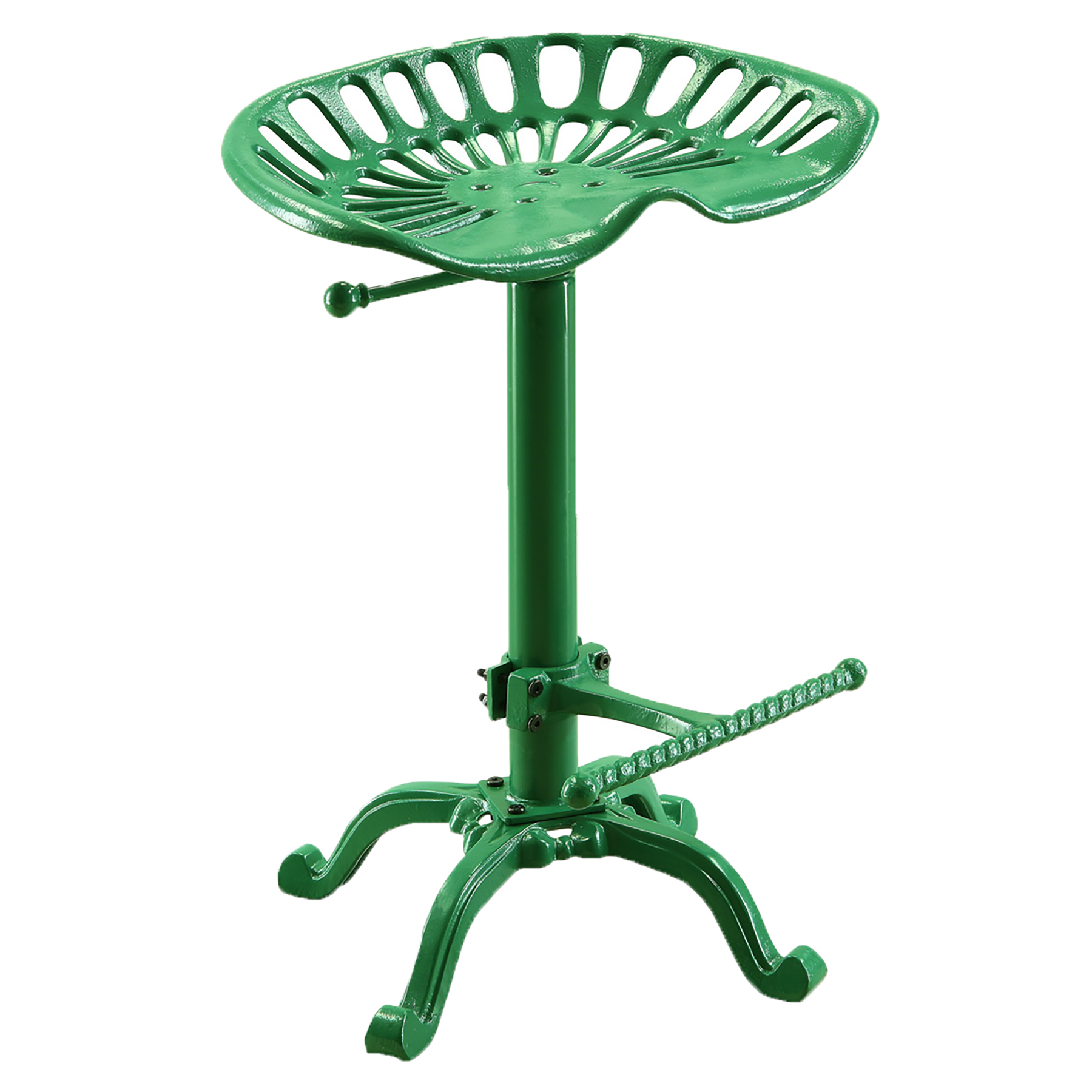 Hunter Adjustable Tractor Seat Stool, Tractor Green