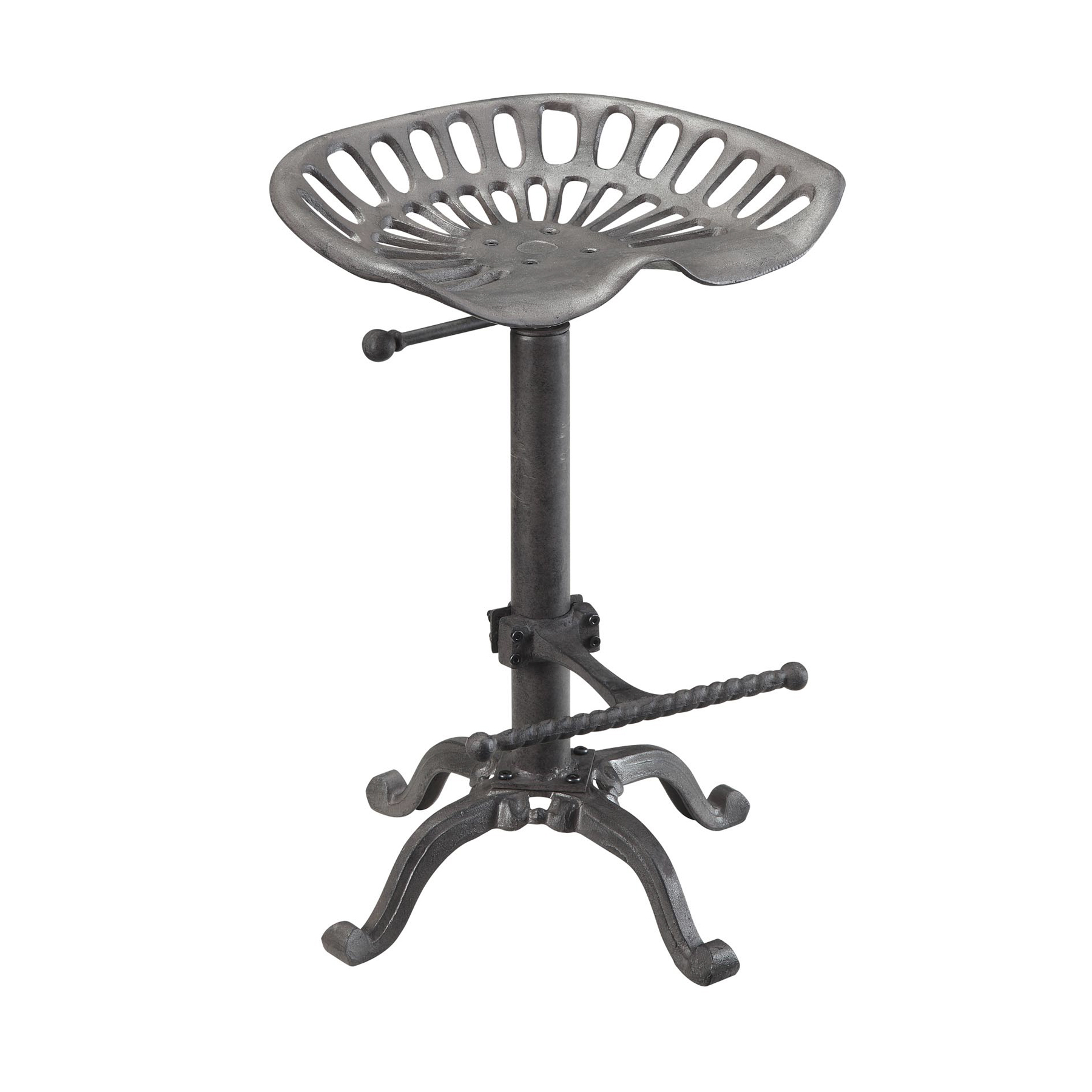Hunter Adjustable Tractor Seat Stool, Industrial
