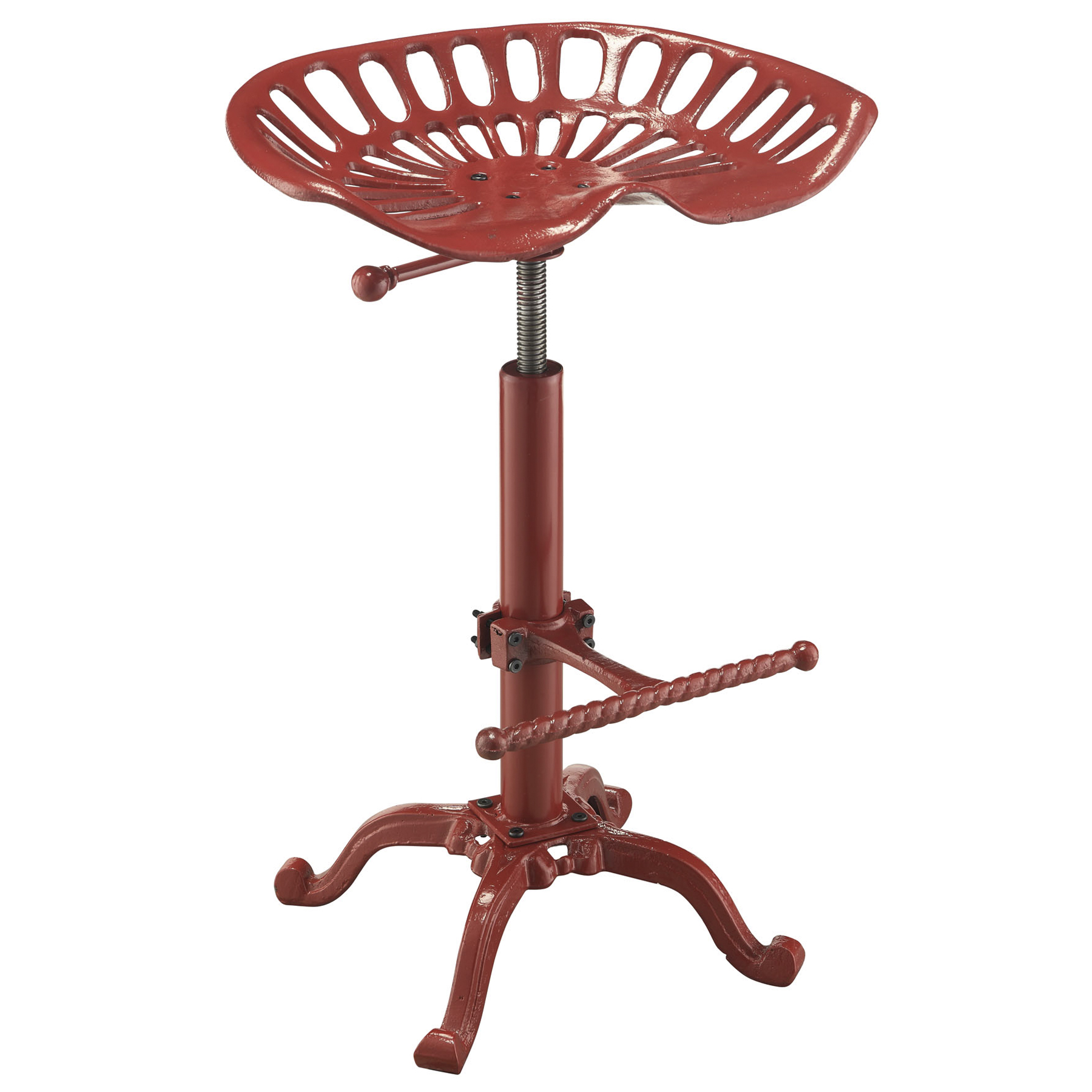 Hunter Adjustable Tractor Seat Stool, Red