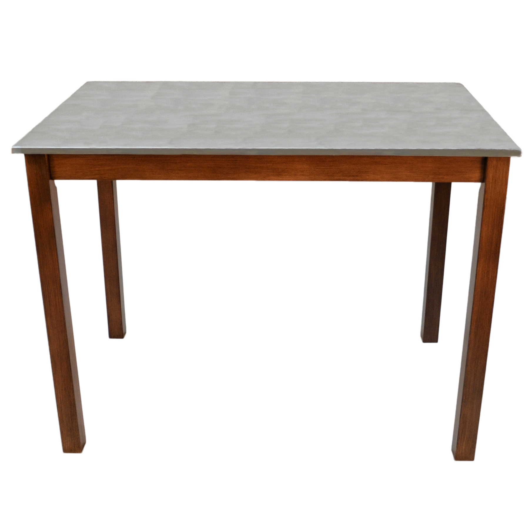 Cooper Stainless Steel Top Bar Table, Chestnut