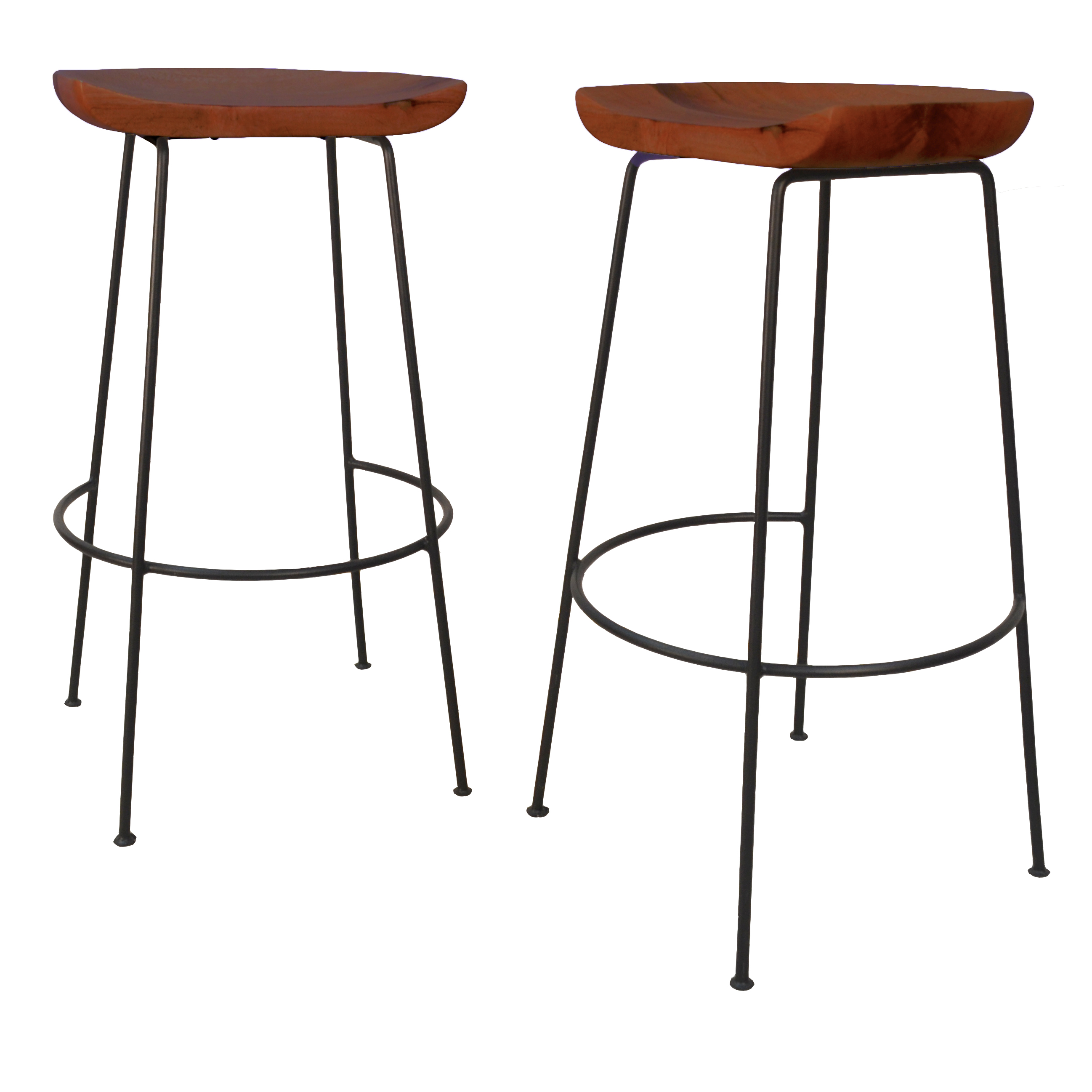 "Diya 30"" Bar Stool Set of 2, Chestnut/Black"