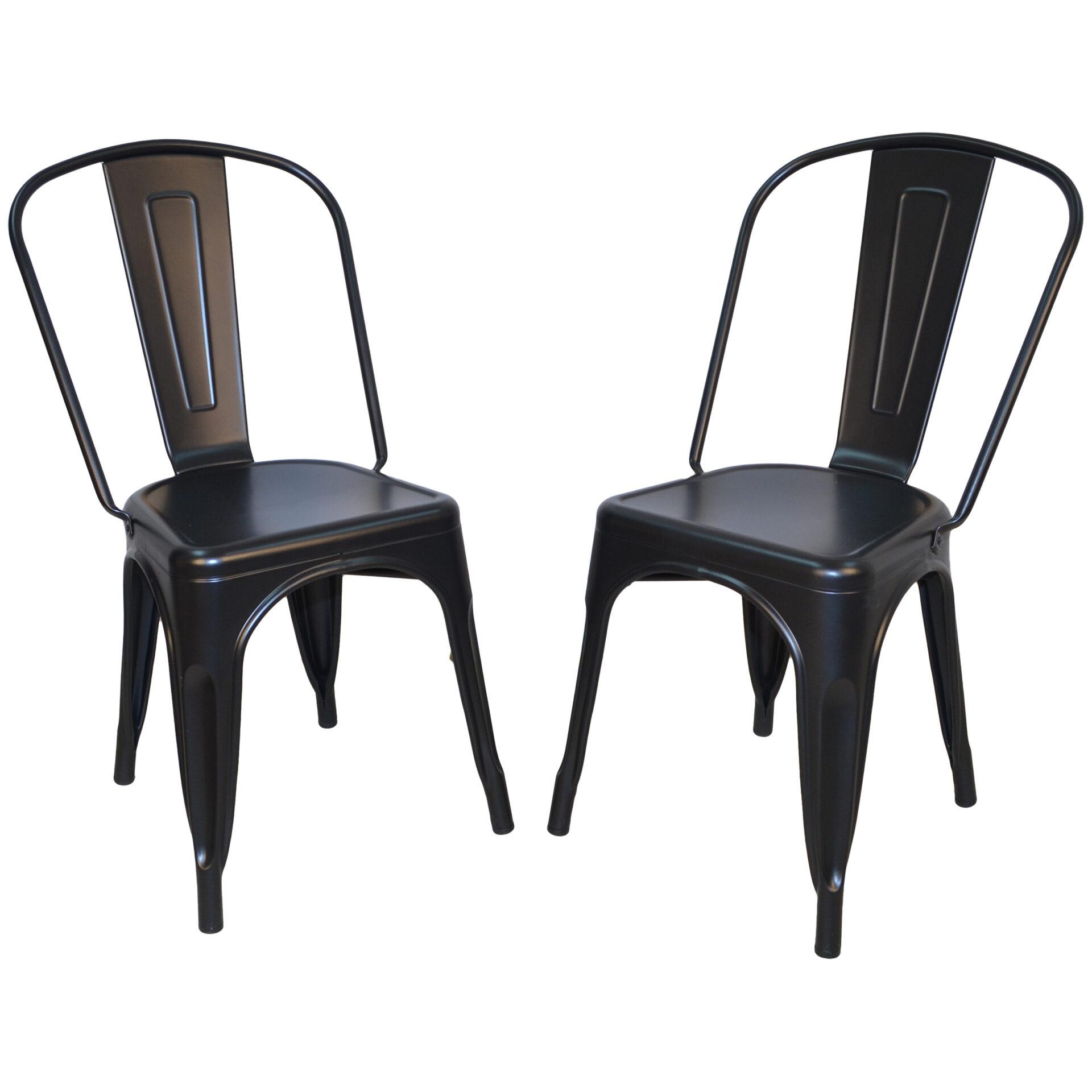 Adeline Metal Chair, Black