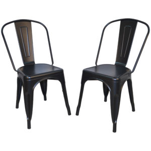 Adeline Metal Chair, Black