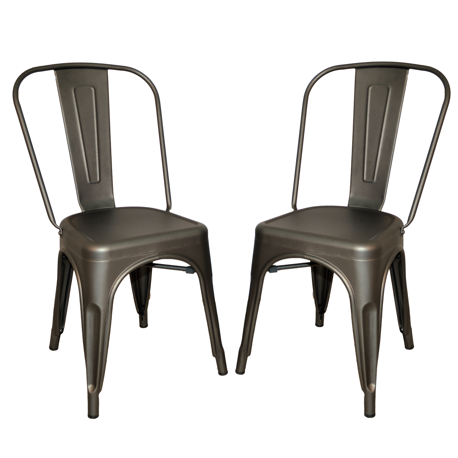 Adeline Metal Chair, Rustic Pewter