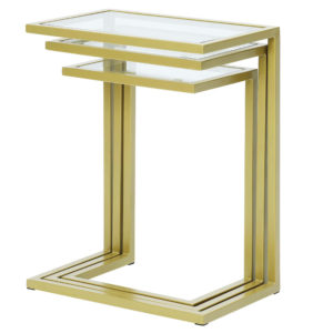 Emmitt Nesting Table Set, Gold