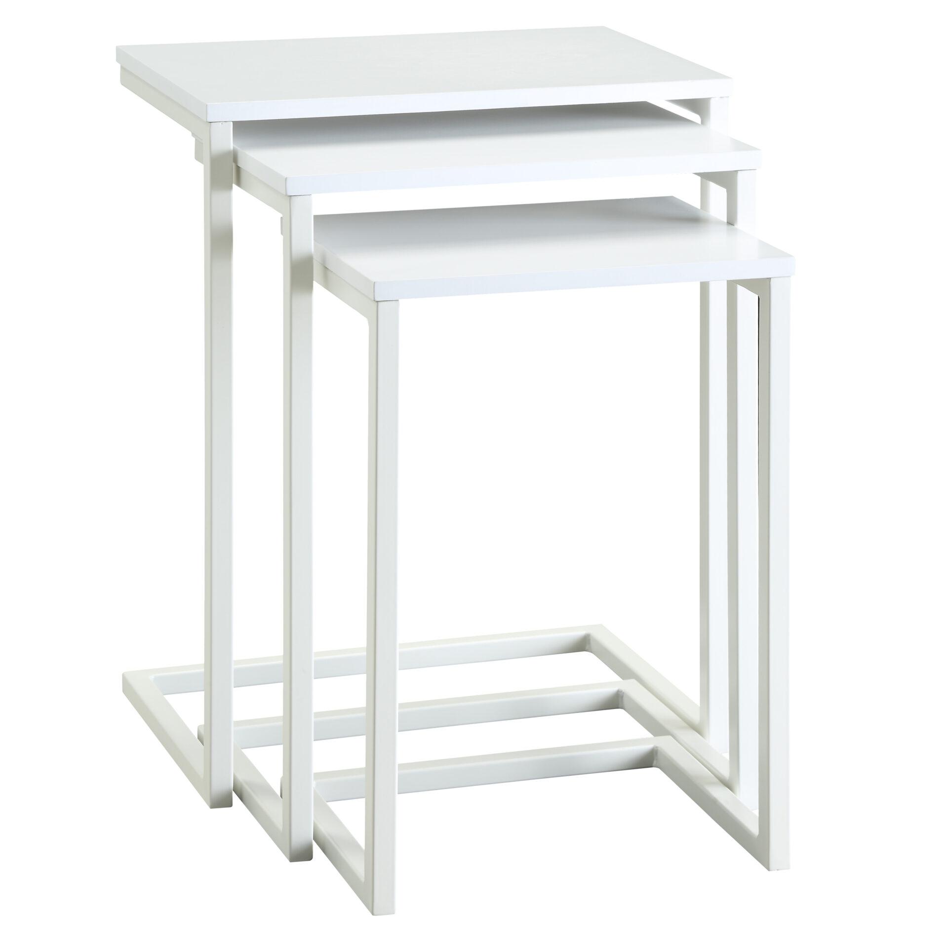 Emmitt Nesting Table Set, White